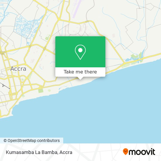 Kumasamba La Bamba map