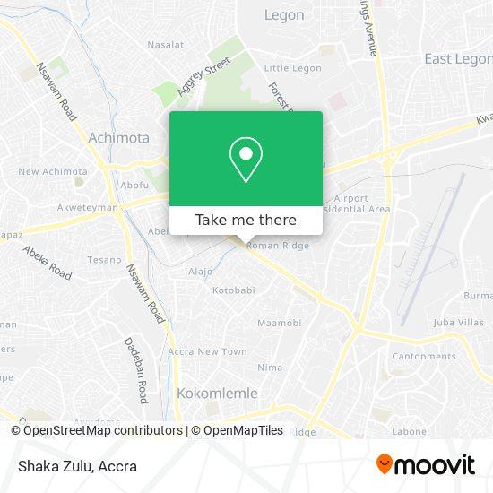 Shaka Zulu map