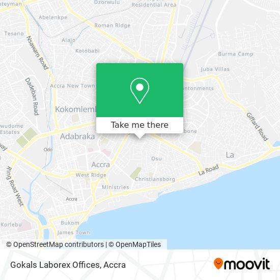 Gokals Laborex Offices map