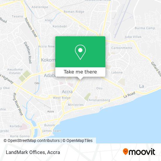 LandMark Offices map