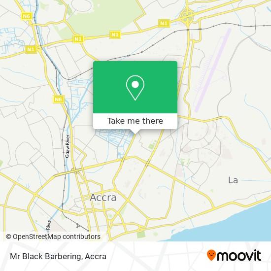 Mr Black Barbering map