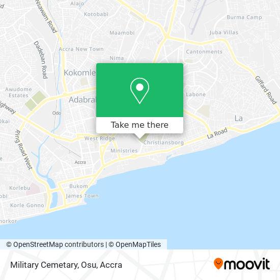 Military Cemetary, Osu map