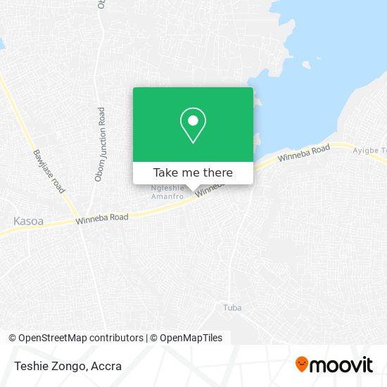 Teshie Zongo map