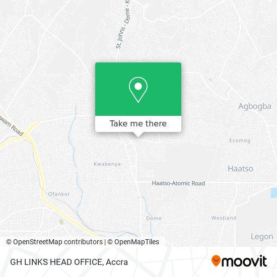GH LINKS HEAD OFFICE map