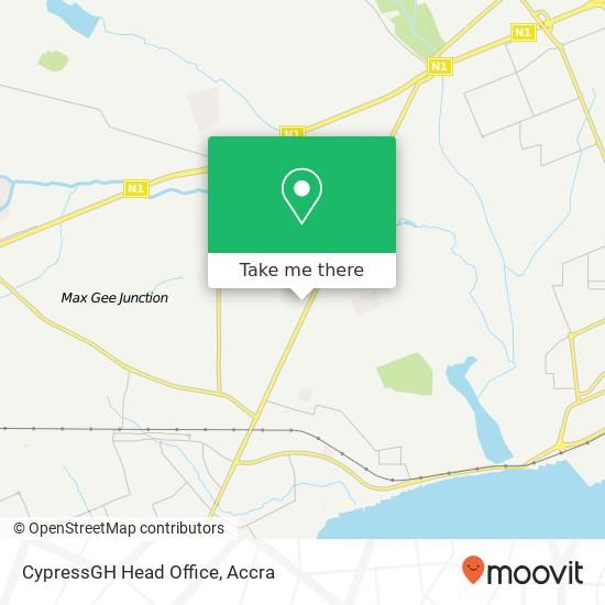 CypressGH Head Office map