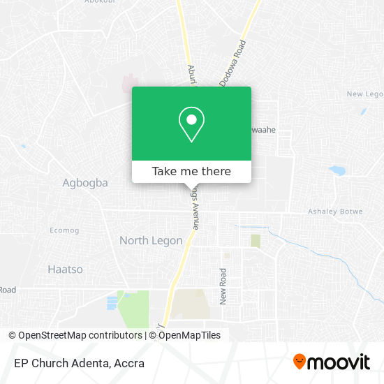 EP Church Adenta map