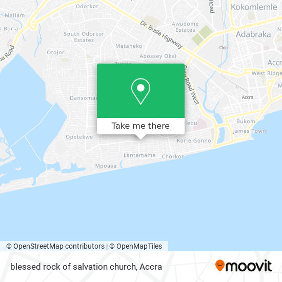 blessed rock of salvation church map