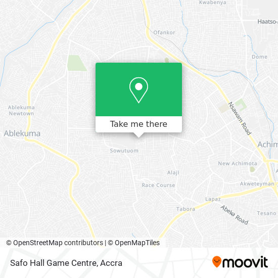 Safo Hall Game Centre map