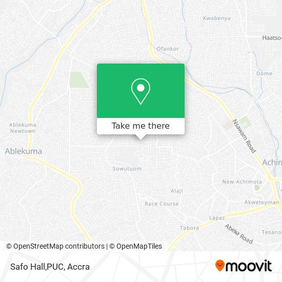 Safo Hall,PUC map