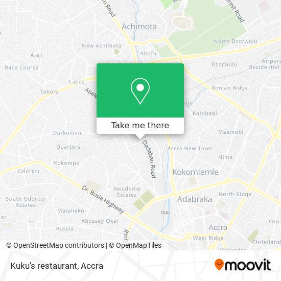 Kuku's restaurant map