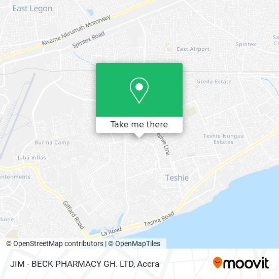 JIM - BECK PHARMACY GH. LTD map