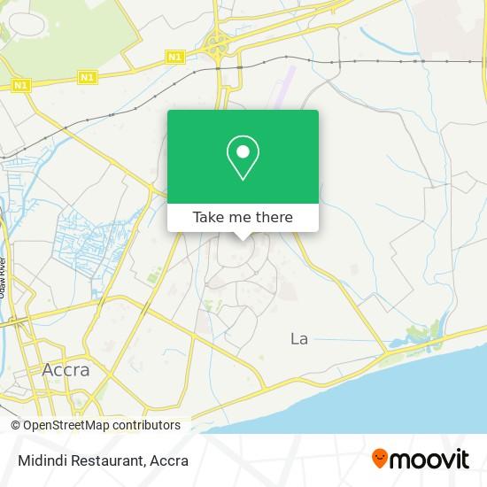 Midindi Restaurant map