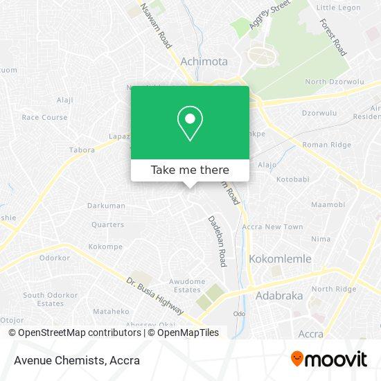 Avenue Chemists map