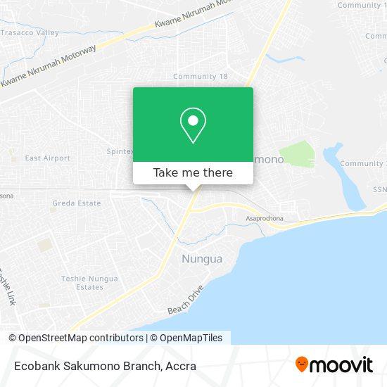 Ecobank Sakumono Branch map
