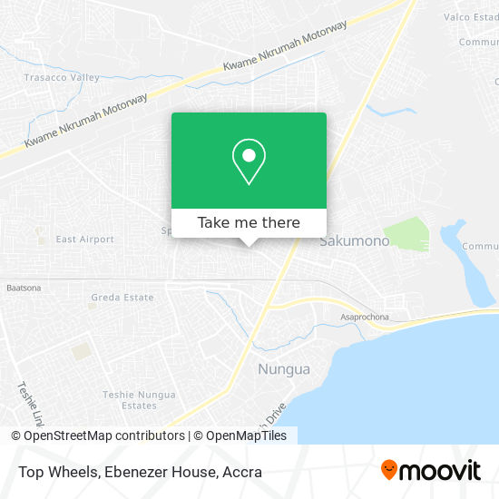 Top Wheels, Ebenezer House map