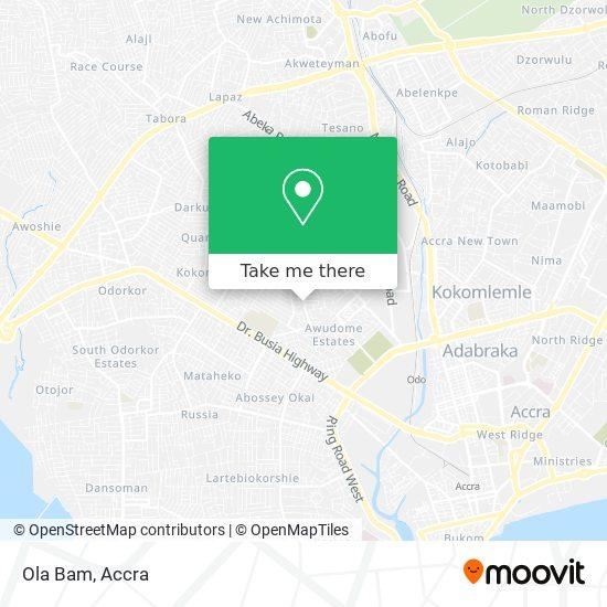 Ola Bam map