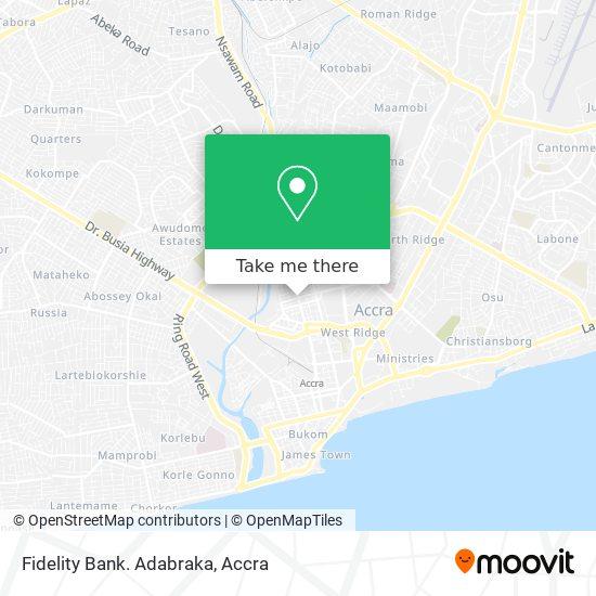 Fidelity Bank. Adabraka map