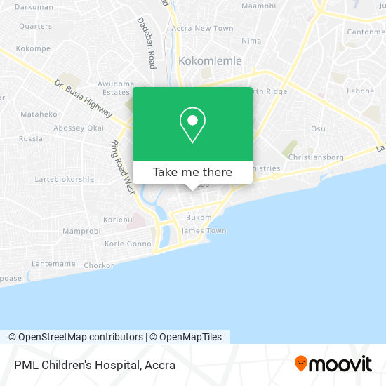 PML Children's Hospital map