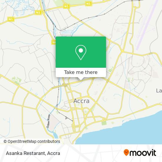 Asanka Restarant map