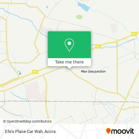 Efe's Place Car Wah map