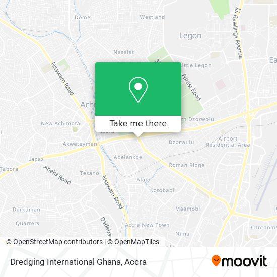 Dredging International Ghana map