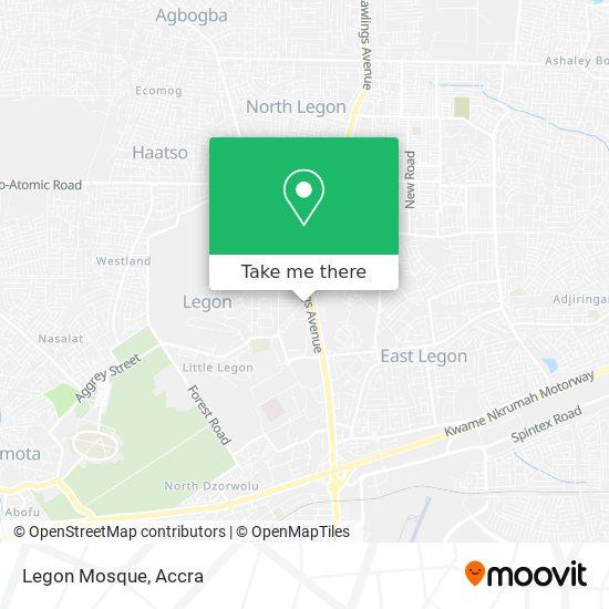 Legon Mosque map