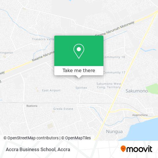 Accra Business School map