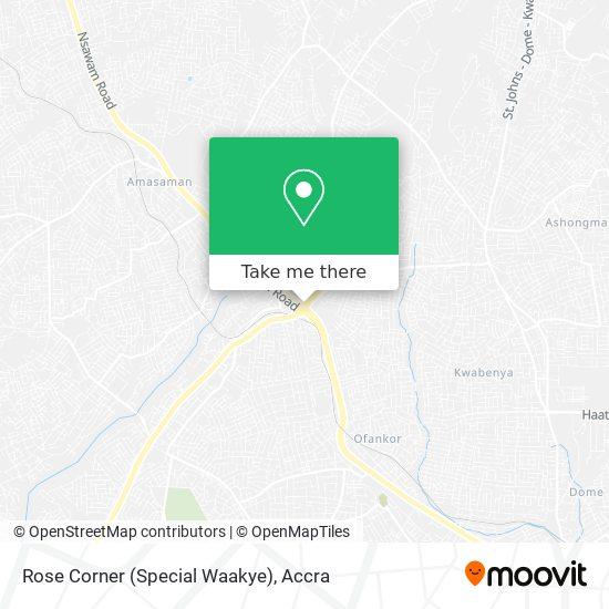 Rose Corner (Special Waakye) map