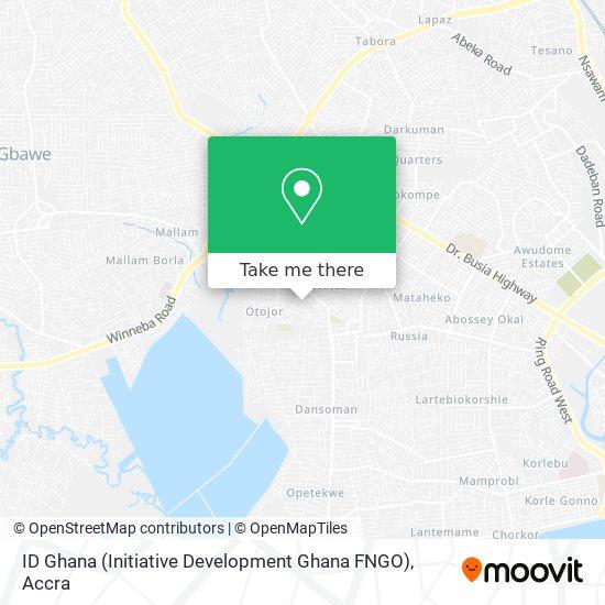 ID Ghana (Initiative Development Ghana FNGO) map