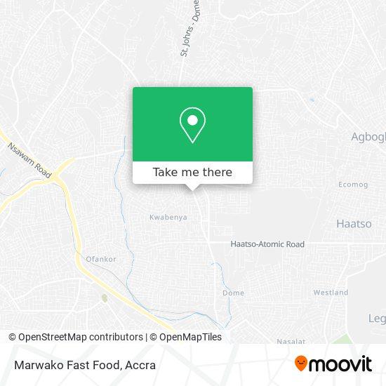 Marwako Fast Food map
