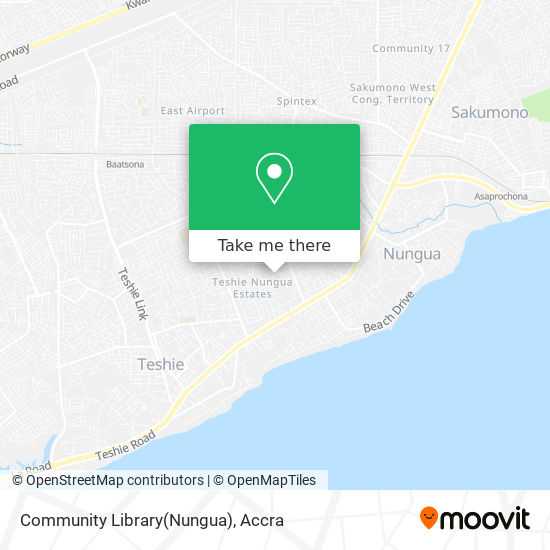 Community Library(Nungua) map