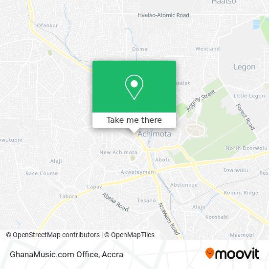 GhanaMusic.com Office map