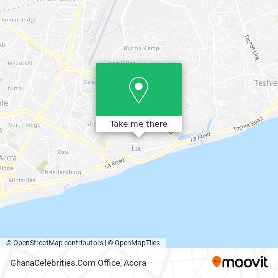 GhanaCelebrities.Com Office map