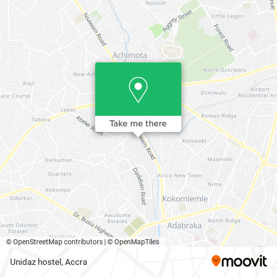 Unidaz hostel map
