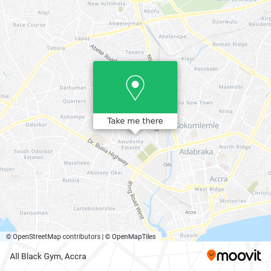 All Black Gym map