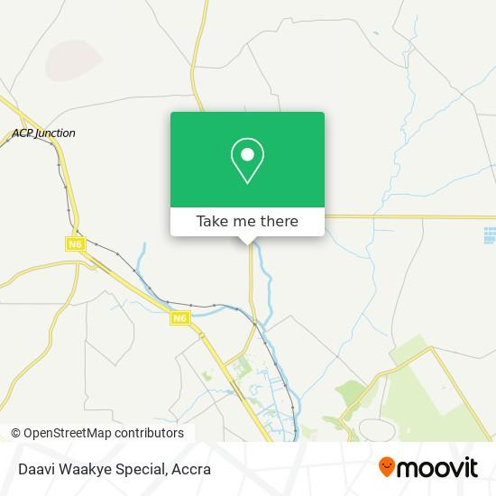 Daavi Waakye Special map