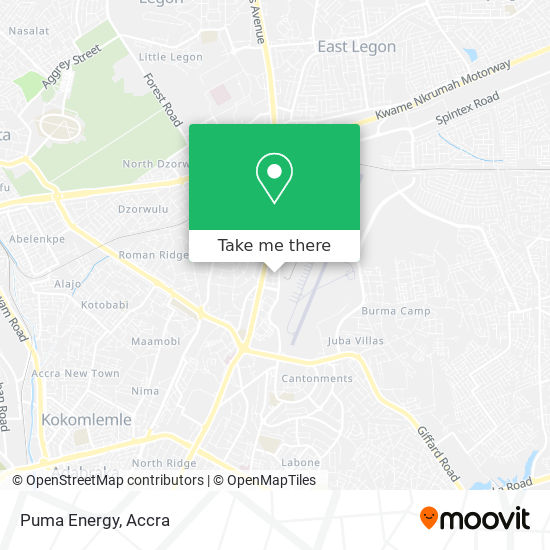 Puma Energy map
