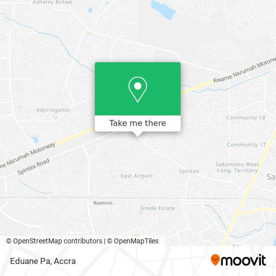 Eduane Pa map