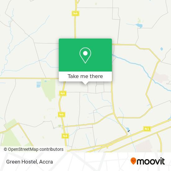 Green Hostel map