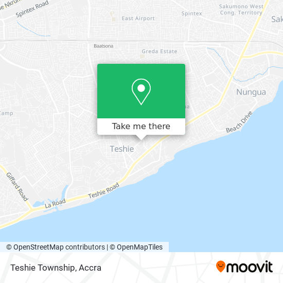 Teshie Township map