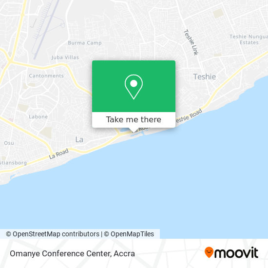 Omanye Conference Center map