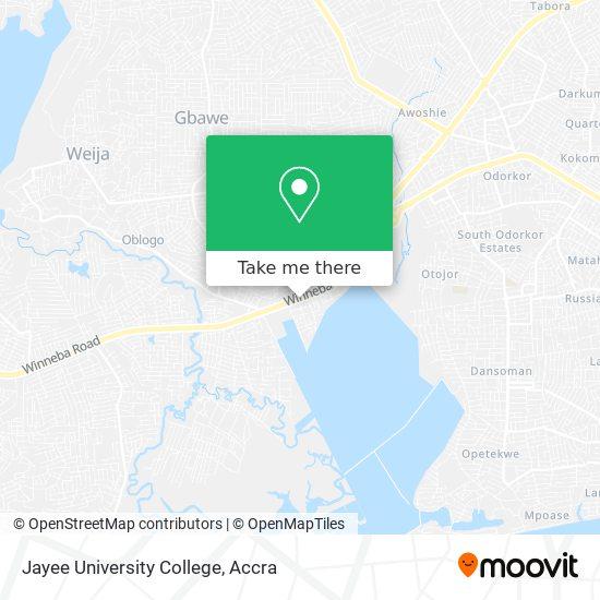 Jayee University College map