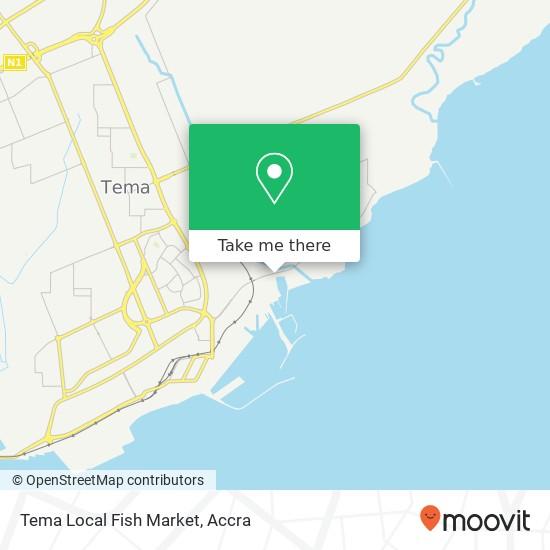 Tema Local Fish Market map