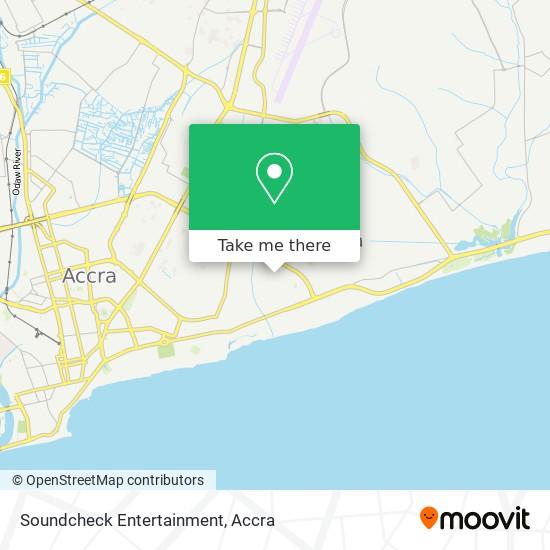 Soundcheck Entertainment map