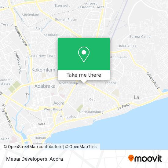 Masai Developers map
