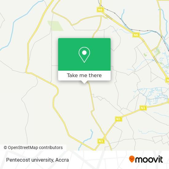 Pentecost university map