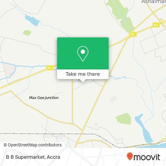 B B Supermarket map