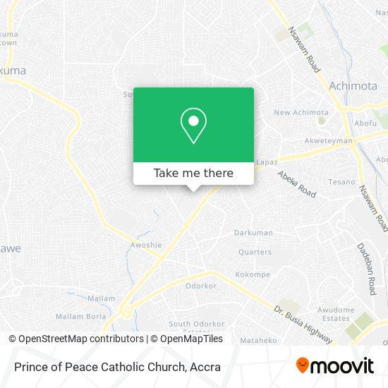 Prince of Peace Catholic Church map