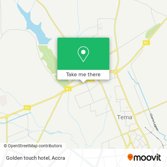 Golden touch hotel map