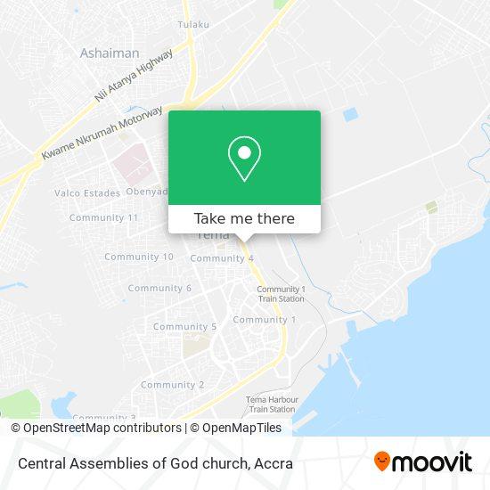 Central Assemblies of God church map
